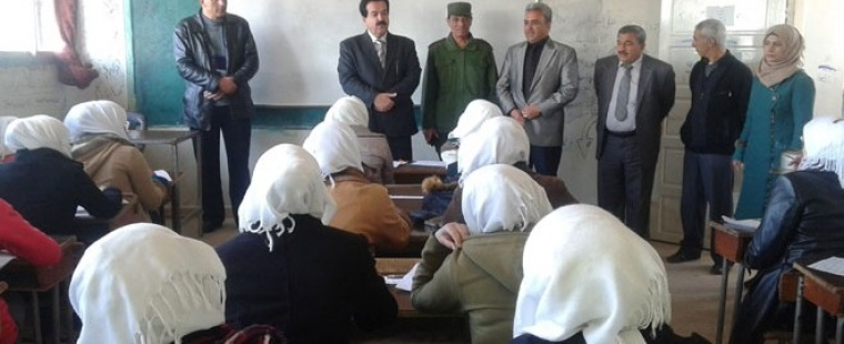 Governor of Quneitra briefed on the  examination process in Quneitra Schools
